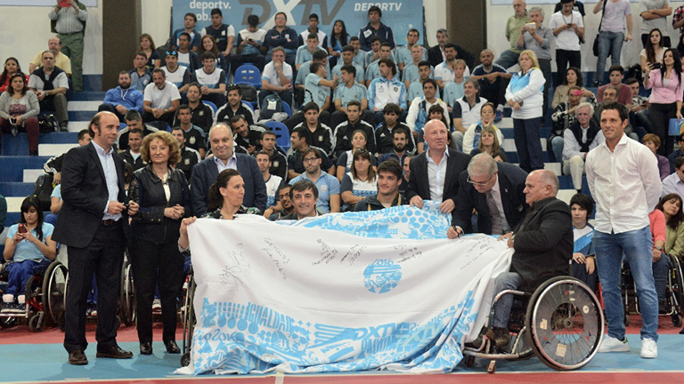 La delegación argentina tuvo su despedida previo a los Juegos Paralímpicos