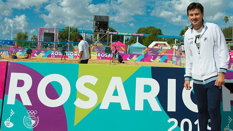 Coria y Schwank, espectadores estrellas de Rosario 2019