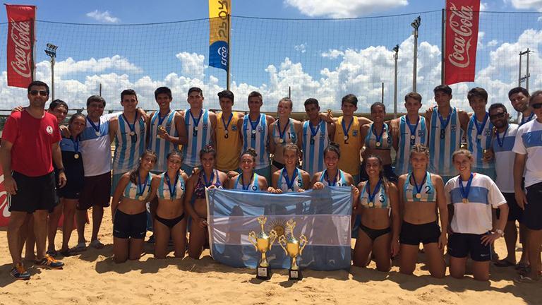 La Selección femenina juvenil de beach handball se consagró campeona del Panamericano