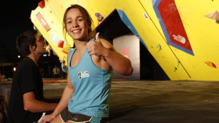 Valentina Aguado tricampeona del Master de Boulder