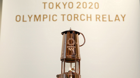 La llama Olímpica se exhibe en Japón